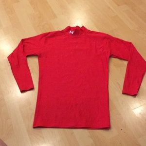 Under Armour Mock turtleneck Red Long Sleeves, EUC